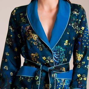 F.R.S. For Restless Sleepers Silk Jacket L NWT